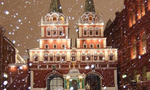 Москва январь 2020